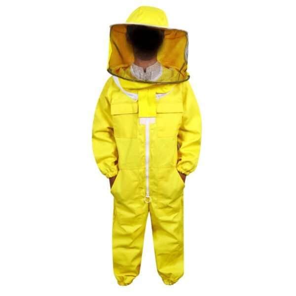 Tuta completa apicoltore con cappello  rotondo per Bambino giallo