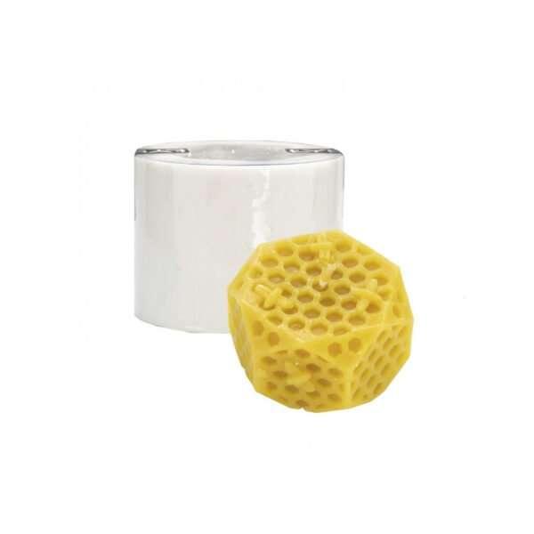 Stampo per candele in silicone - CELLE DI FAVO CON API